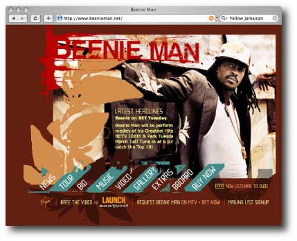 Beenie Man Website
