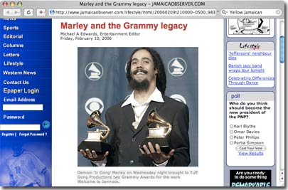 Grammy Damian Marley 2