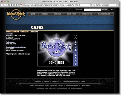 Hard Rock Cafe Jamaica