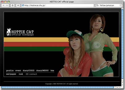 Hottie Cat Web Site