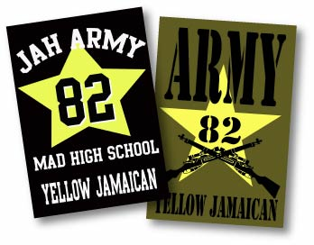 Jah Army 82 Yellow Jamaican