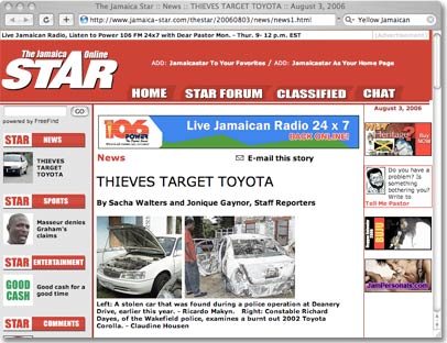 Jamaica Target Toyota